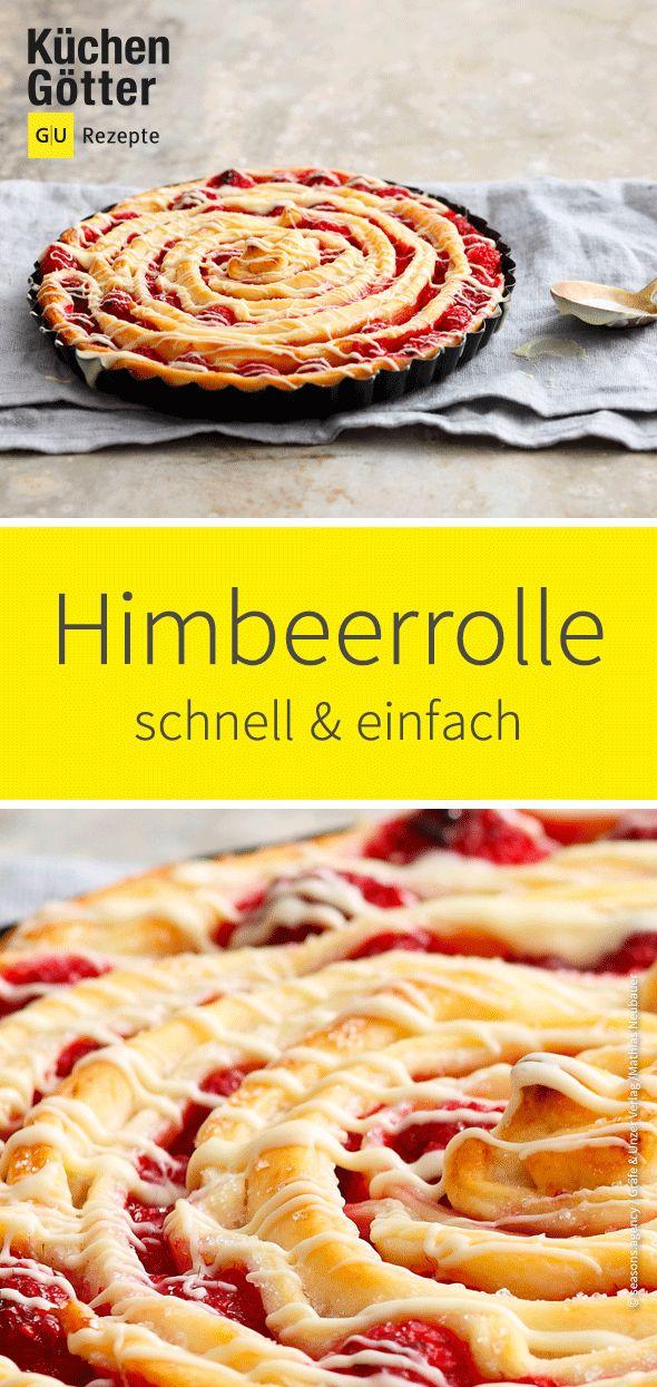 #Himbeeren, weiße Schokolade und zartblättriger Teig – das #Himbeerbrötchen ist …   – Back-Liebe