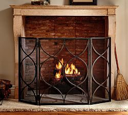 Fireplace Accessories & Fireplace Screens With Doors | Pottery Barn