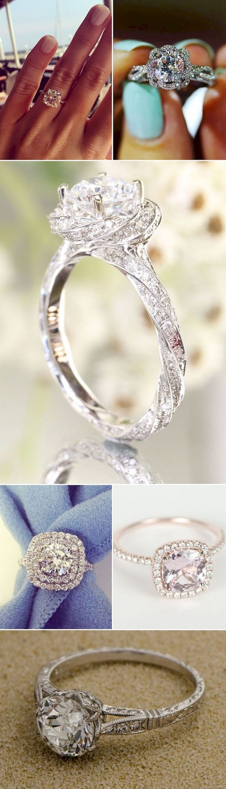 Cool 57 Unique Engagement Rings So Beautiful They'll Make You Cry https://bitecloth.com/2017/07/12/57-unique-engagement-rings-beautiful-theyll-make-cry/