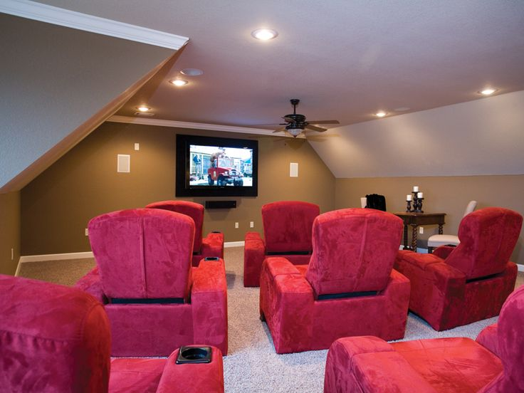 A Great Way To Use A Second Floor Bonus Room! Plan 055D 0202 |