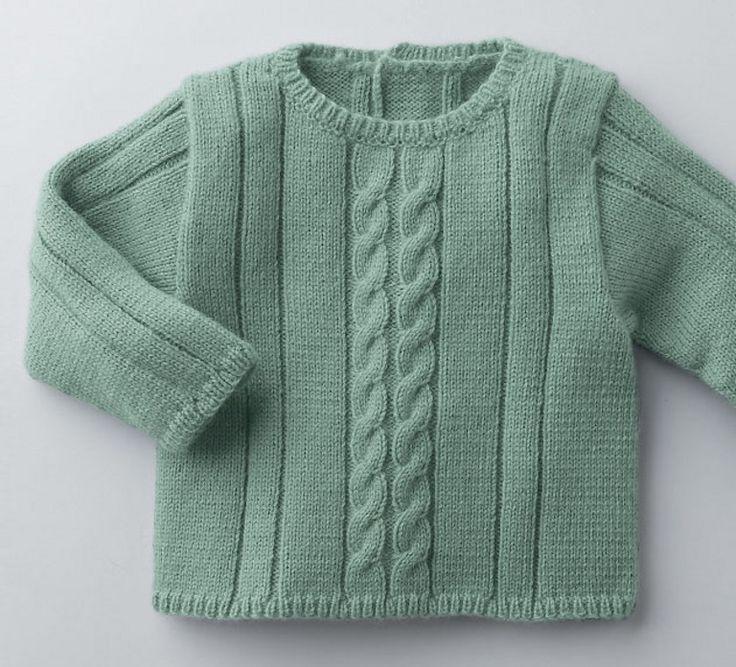 Un tricot pour se moquer du froid! Le pull de 0 à 18 mois idéal pour garder bébé au chaud. Tricoté en laine partner baby, douce et agréable, avec un brin de fantaisie grâce au point jersey et à ses torsades. Modèle tricot n°4 du catalogue 92 : Spécial qualité partner