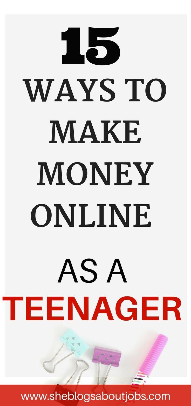 Great Ways To Make Money Online As A Teen (Under 18 – eden