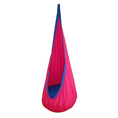 Seasofbeauty Kids Child Pod Swing Chair Nook Tent Indoor Outdoor Hanging Seat Hammock Bright Pink *** Be sure to check out this awesome product.Note:It is affiliate link to Amazon.