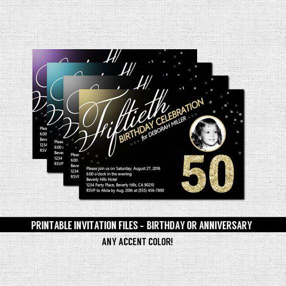 60th Birthday Color Ideas: MILESTONE BIRTHDAY INVITATIONS Anniversary Any Accent