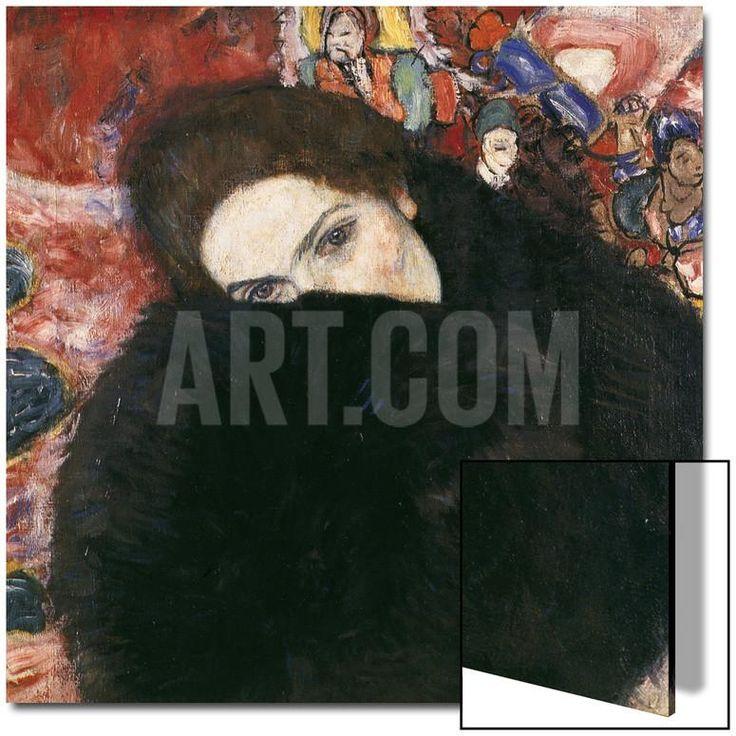 Lady with Muff, 1916-17 Akrilik Sanatı by Gustav Klimt at Art.com