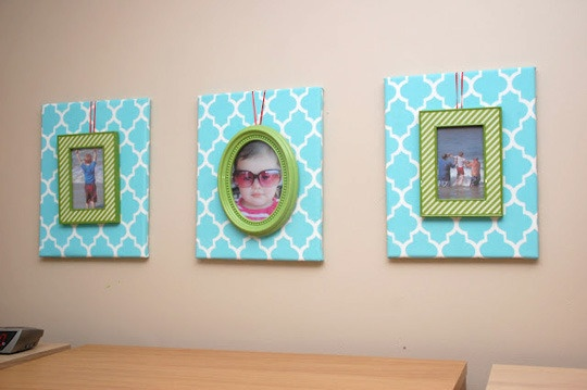 Great idea (including colors) for baby room