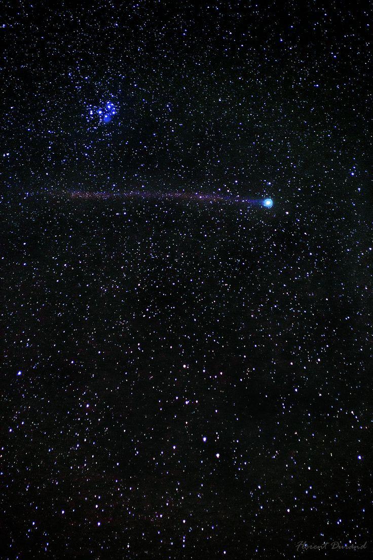 Comète Lovejoy et Pléiades. Janvier 2015. Depusi Lancié