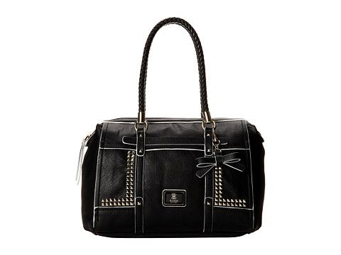 GUESS Road Trip Large Satchel Black - 6pm.com