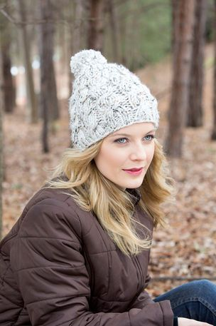 Loops & Threads® Charisma™ Chunky Cable and Rib Knit Hat