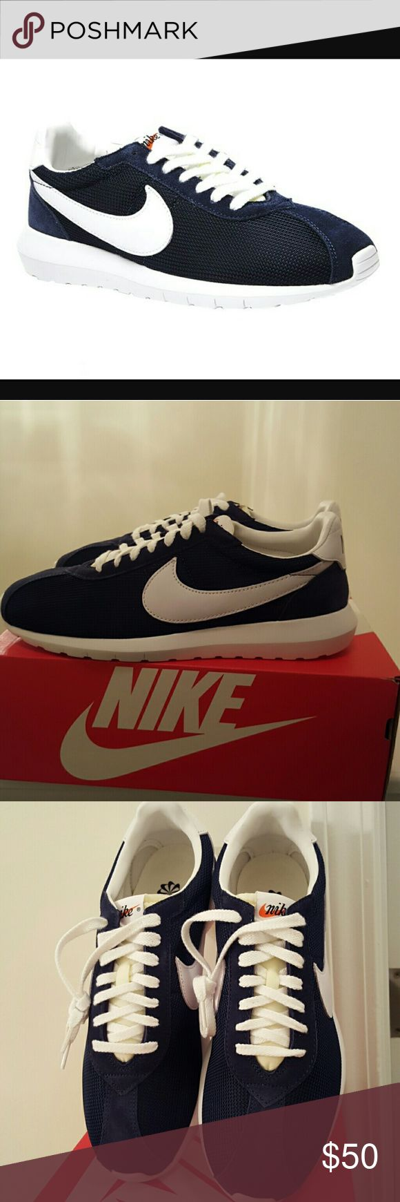 NIB! MEN'S NIKE ROSHE LD -1000 QS Color : Navy Blue & White                         **** PRICE IS FIRM! ****                        **** I DON'T TRADE! **** Nike Shoes Athletic Shoes