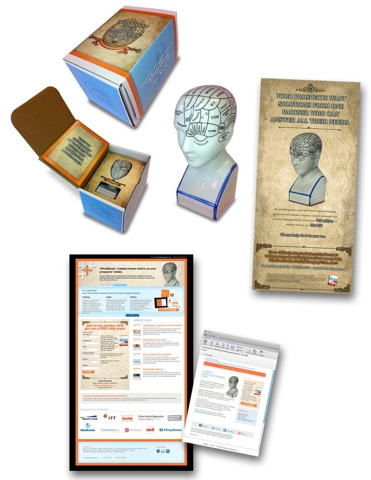 What's on your prospects' minds?  Phrenology campaign from @Catalyst