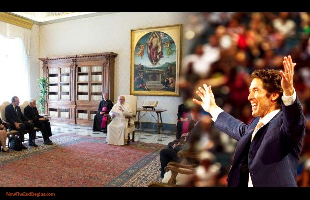 "This past week, Pope Francis has met with Mormons, Evangelical Christians, Imams of Islam and Rabbis from Israel, all with ONE goal in mind: creating the One World Religion with Rome as the ""Mother of Harlots leading the way. Don't believe it? Click and see! http://www.nowtheendbegins.com/blog/?p=22485"