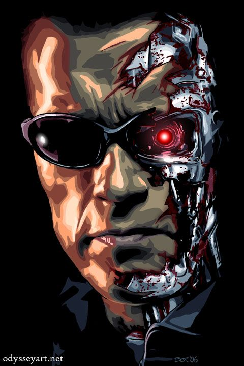 Terminator (1984/1991/2003/2009) ~~ Action | Sci-Fi ~~ The thing that won't die, in the nightmare that won't end ~~ Artwork by Brian Roll