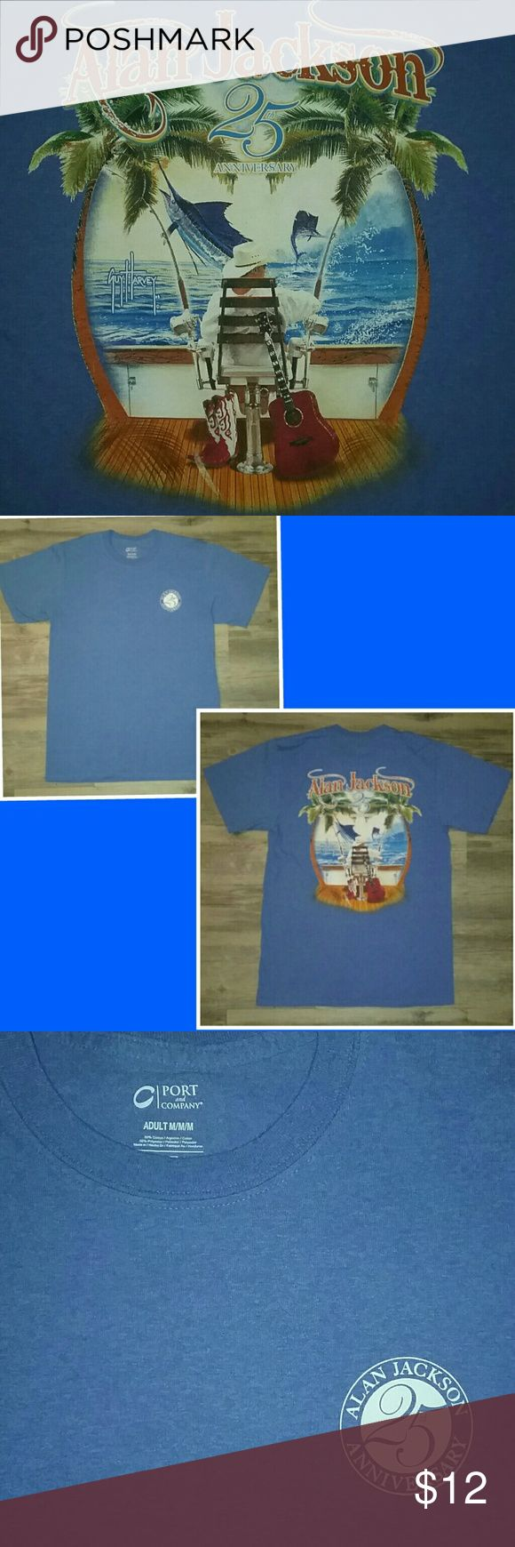 Guy Harvey Alan Jackson/Guy Harvey Heather Blue 25th Anniversary Unisex T-shirt  NWOT -  Size Medium guy harvey Shirts Tees - Short Sleeve