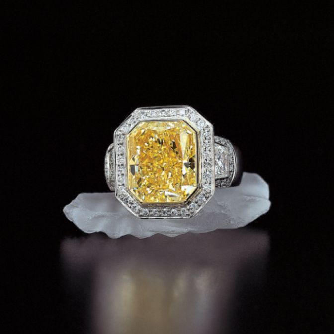 Jeffrey Daniels Yelow Diamond Ring