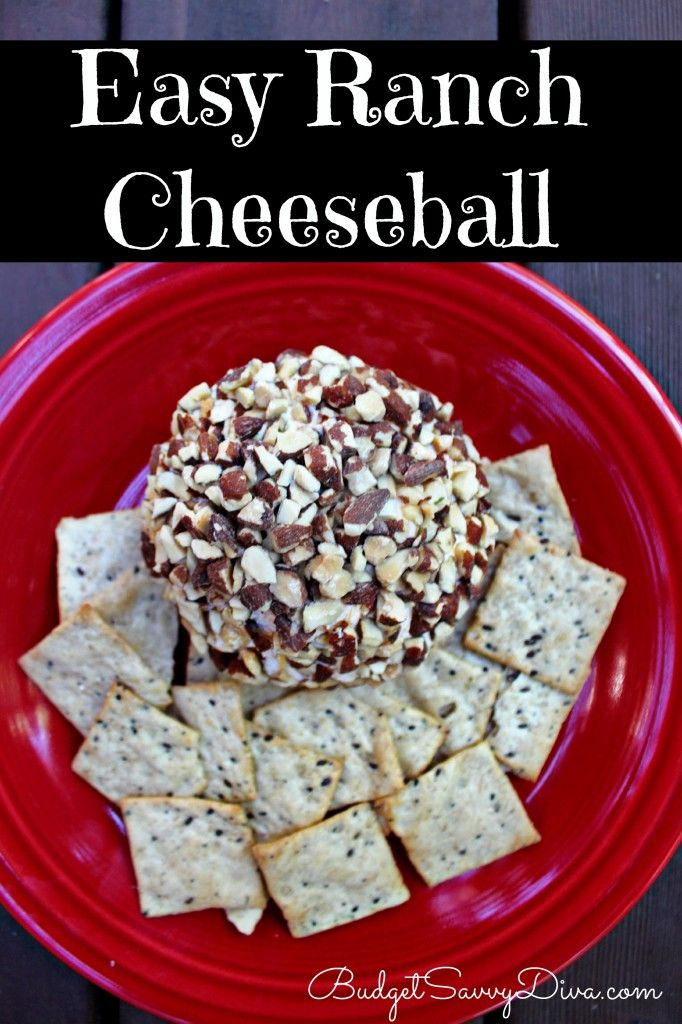 Cheeseball Ranch, Cheeseball Easy, Easy Cheeseballs Recipes, Ranch ...