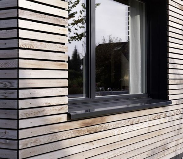 I love this wood and window detail! No trim