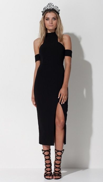Mossman Ring Of Fire Black Dress