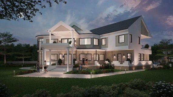 At 7830 Sqft The Hillview House Plan Boasts Of Luxurious Features Unique And Dazzling Design Details And Modern House Plans House Plans Bedroom House Plans
