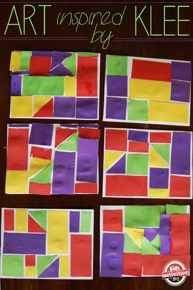 Art & Math - inspired by Klee - Kids Activities Blog