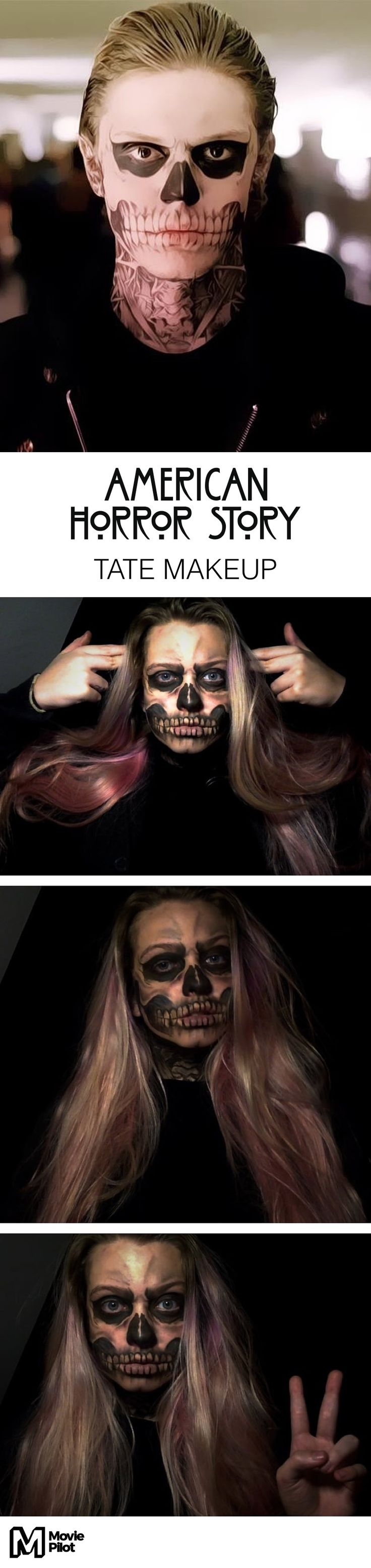 'American Horror Story' Halloween makeup — Tate from Murder House!