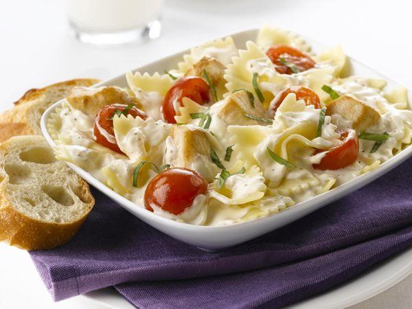 Creamy Chicken-Bruschetta Pasta