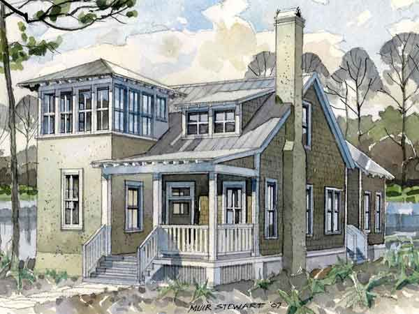 House plans with lookout towers - Home design and style