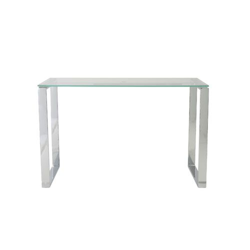Diego Clear Desk With Glass Top