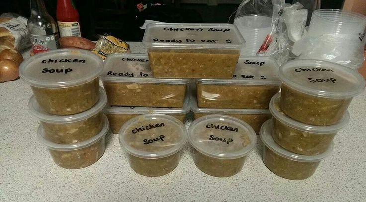 Chicken Soup ready for transport :-)