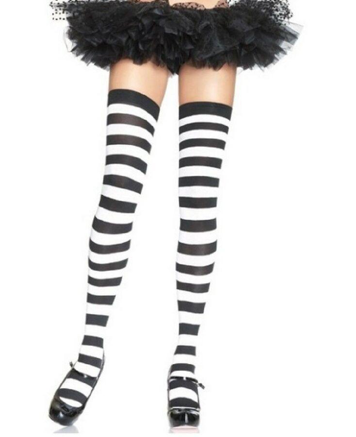 9d49d28a6 Leg Avenue Halloween Thigh Highs Accessories-One Size-Halloween Costume  Hosiery  Halloween Thigh Leg