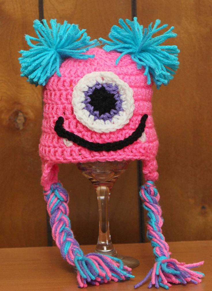 Sweet Little Monster Crochet Hat. $15.00, via Etsy.