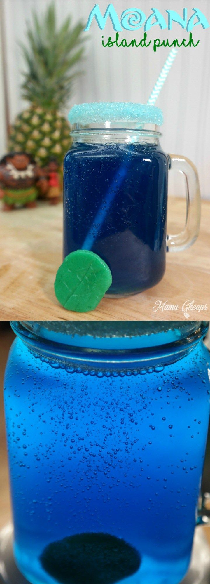Moana Inspired Island Punch Party Drink - perfect for a Moana party!!