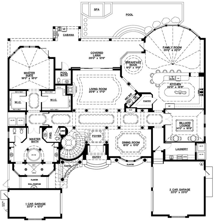 One Story Luxury Home Designs: 1000+ Images About Floor Plan On Pinterest