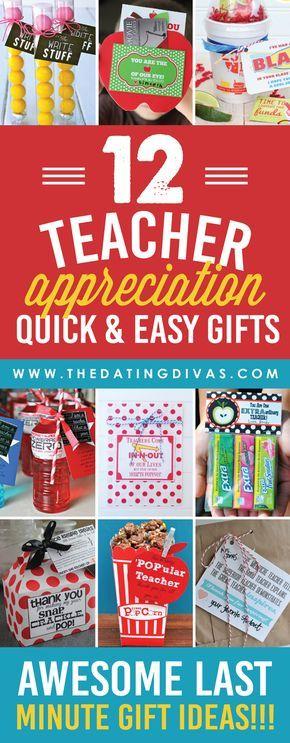 Quick and Easy Teacher Appreciation Ideas