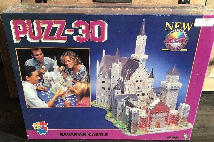 New Puzz-3D 1000pc Jigsaw Puzzle Bavarian Castle 3 Dimensional Wrebbit  | eBay
