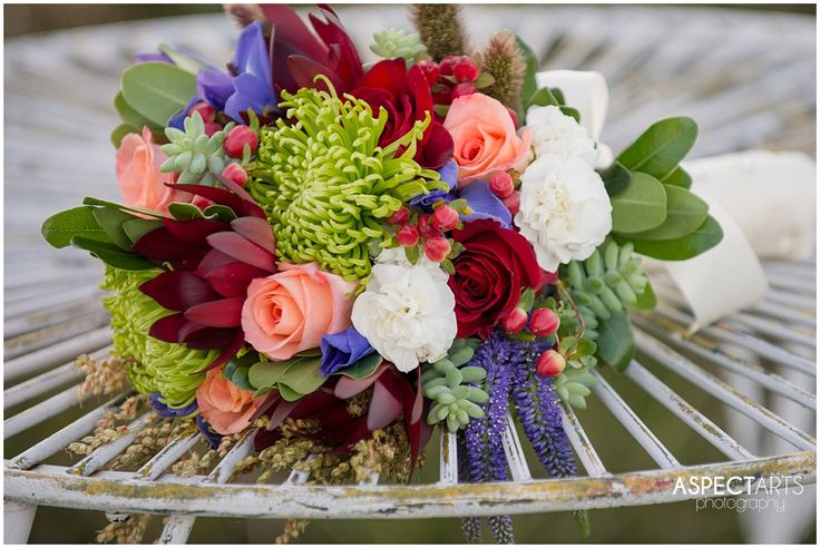 Kelowna wedding florist bouquet. Succulents, Anemones, Roses, Lavender, wheat www.aspectartsphoto.com