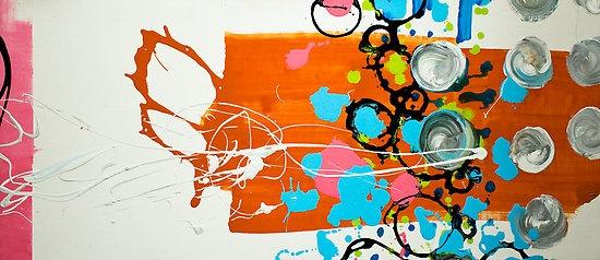 Pop the Glock by Randi Antonsen acrylic on canvas