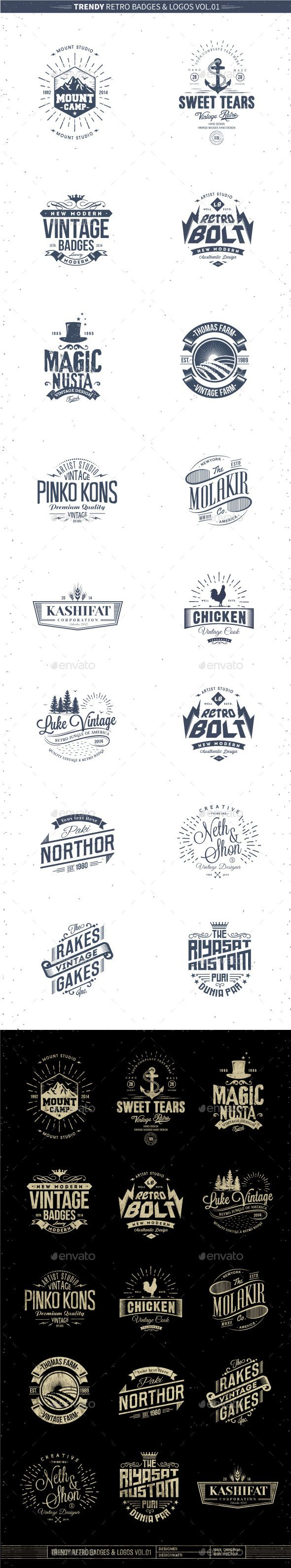 Trendy Retro Badges and Logos EPS Template • Only available here ➝ http://graphicriver.net/item/trendy-retro-badges-and-logos-vol01/10358811?ref=pxcr