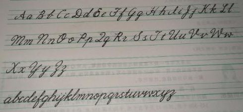 example of cursive writing