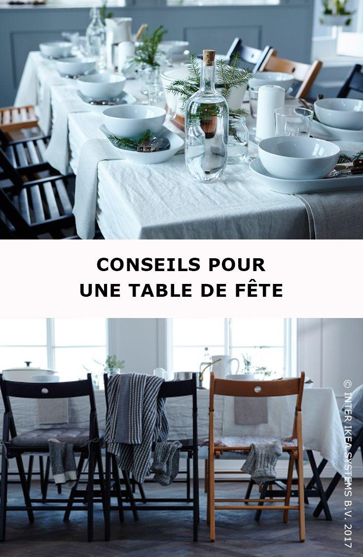 Choisissez un thme et optez pour des couleurs d'hiver douces et agrables  pour une table de fte fantastique ! TERJE Chaise pliante, 12,99/pce.
