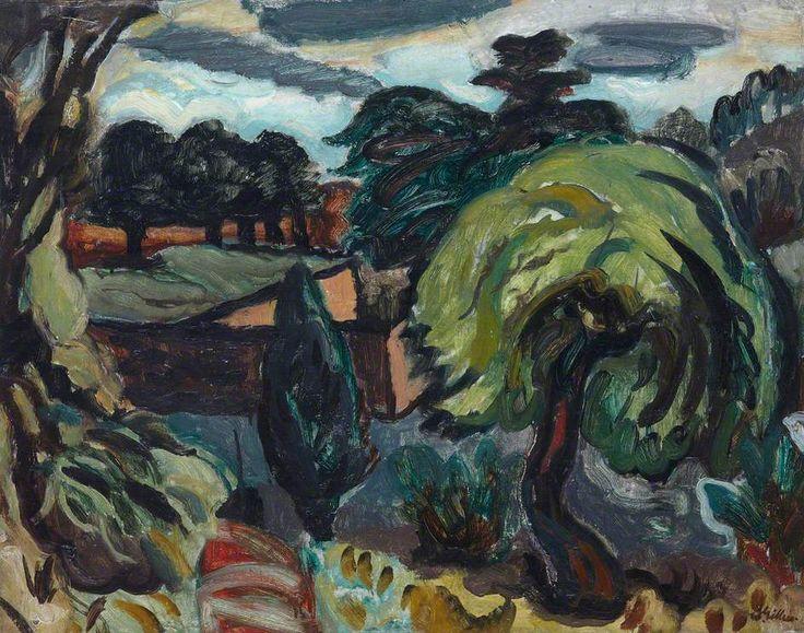 William George Gillies Dark Landscape
