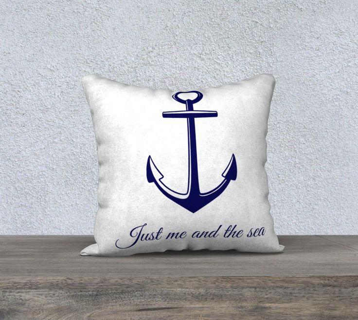 "Nautical Pillow Case 18"" x 18"""