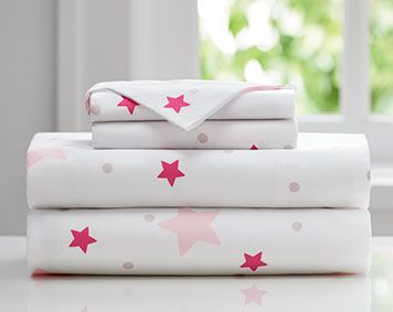 sleep number kids pink stars sheet set exclusive smart button bedding helps kids stay - Sleep Number Sheets
