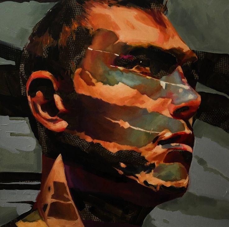 """Light eroded"" a painting by artist Corne Eksteen. (600 x 600 mm, Oil on canvas.) 2015 - Find more on corneeksteen.com"