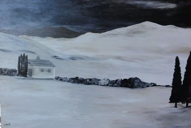 "Saatchi Online Artist Wietzie Gerber; Painting, ""Winter Sepia"" #art"