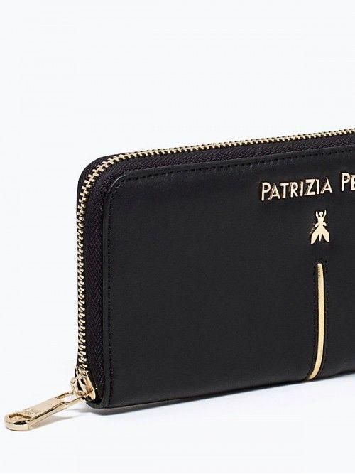 Patrizia Pepe piccola Pelletteria Portafoglio nappa di vitello nero