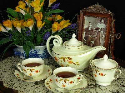 Remember the Jewel Tea Company? My sweet mother-in-law left me a lot of this pattern.  I use it every Thanksgiving.