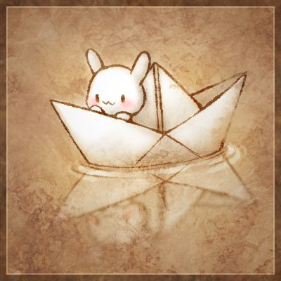 RABBIT IN A BOAT!