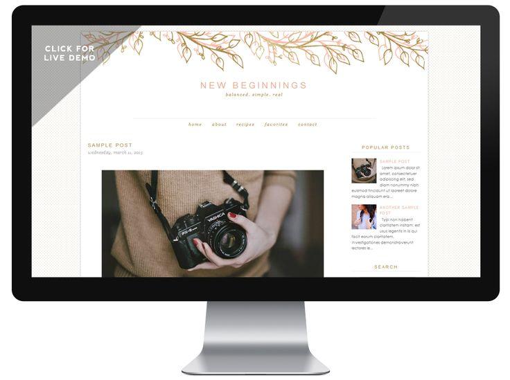 52 best Feminine Blogger templates images on Pinterest | Feminin ...