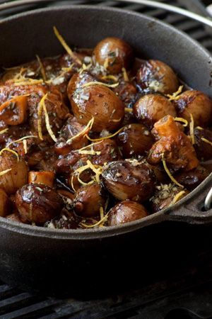 Lamb or Venison Potjie with Baby Onions